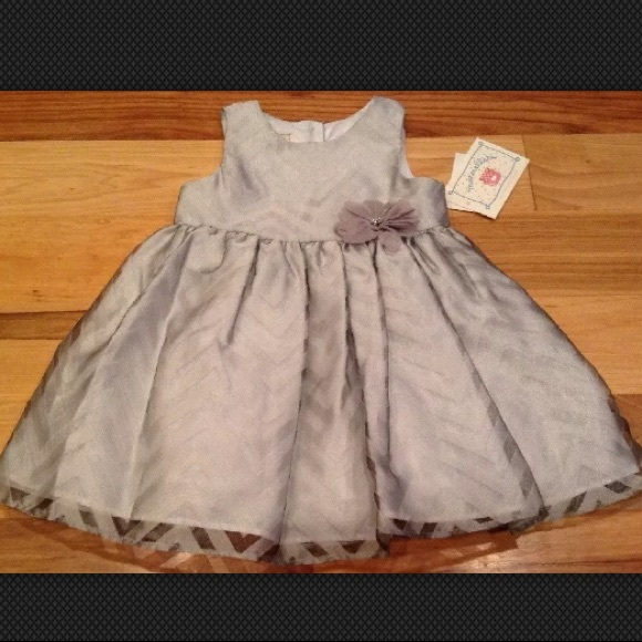 marmellata Other - Marmellata 24 Months Shimmery Silver Dress